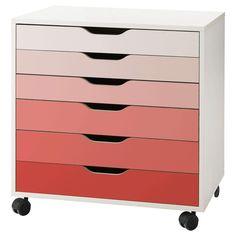 New ikea storage unit alex drawer Ideas Ikea Storage Units, Desk Storage, Kitchen Storage, Ikea Art, Ikea Alex Drawers, Ikea Office, Office Chairs, Office Furniture, Bedroom Furniture