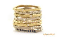 Rings drop-shaped