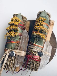 Wiccan, Witchcraft, Yellow Wildflowers, Herbal Magic, Smudge Sticks, Harvest Moon, Witch Aesthetic, Clear Quartz Crystal, Love And Light