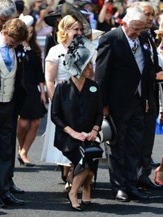 Sophie, Countess of Wessex curtseys to Queen Elizabeth II as she attends Day 4 of Royal Ascot 2013
