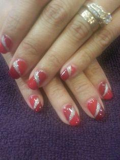 Shellac holiday nails By, Kim Yee