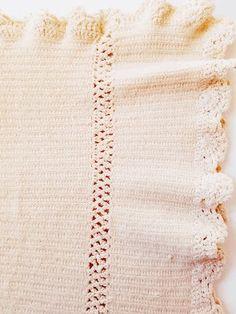 Antique Crochet Baby Blanket