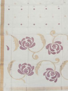Uppada Cotton Saree paper work pallu design