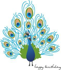 Simple colorful peacock drawing - photo#10