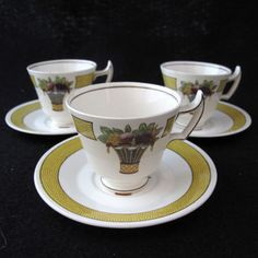 For a Thanksgiving table... | Vintage Wedgwood Directoire Demitasse Cup & Saucer