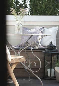 TERRACE INSPIRATION: GREY, BROWN AND LAVANDER | Lili Halo Decoration