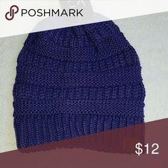 *last 1* NWT Deep Purple Knit Beanie FIRM UNLESS BUNDLED   Dark purple, brand new beanie! Accessories Hats