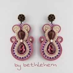Soutache Jewelry, Diana, Jewerly, Earrings, Handmade, Etsy, Fashion, Diy Accessories, Bijoux
