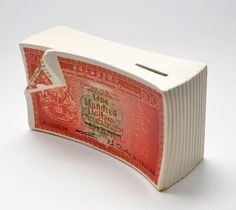 Vintage Hong Kong Dollars Wad Great Fotrune Porcelain Coin Bank - Rare and Cool! by vtgwoo on Etsy