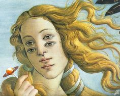 The Birth of Venus painting by Sandro Botticelli.