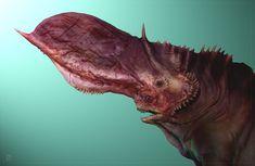 ArtStation - Carnivore Lizard concept design, Zsolt Domsodi