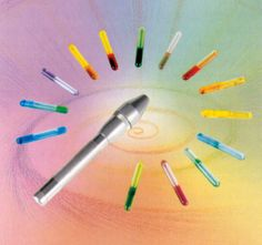 Beamer Light Pen. This is so useful with specific colors used all over the body. Have used with patient in hospice care, as well on family members suffering from specific ailments. www.jollyhill.net