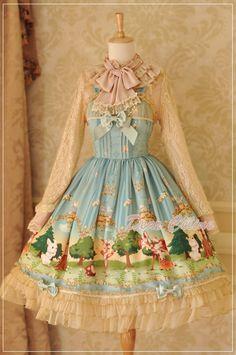 Dear Celine Fairy Tale Forest Lolita Jumper Dress - My Lolita Dress