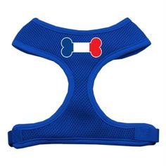 Mirage Pet Products Bone Flag France Screen Print Soft Mesh Dog Harnesses Small Blue ** Check out this great product.Note:It is affiliate link to Amazon.