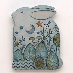 Coniglio Clay bunny coniglio in ceramica Home Decor di DavisVachon