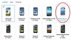 Aparece imagen del Samsung Galaxy S4 Mini en el sitio de Samsung Apps.