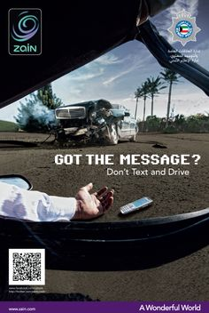 Campaign: Don't text and drive! #safedriving #textanddrive