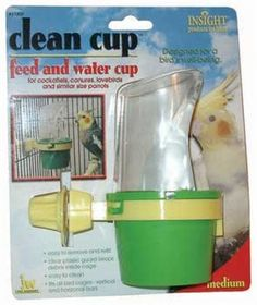JW Pet Company Clean Cup Feeder and Water Cup Bird Accessory, Medium, Colors may vary - http://www.petsupplyliquidators.com/jw-pet-company-clean-cup-feeder-and-water-cup-bird-accessory-medium-colors-may-vary/