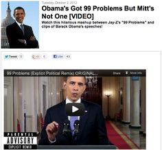 [VIDEO] Obama's got 99 problems but Mitt's not one!!