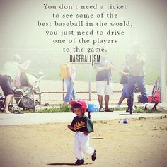 You don't need a ticket to see some of the best baseball in the world, you just need to drive one of the players fo the game. No Crying In Baseball, Baseball Boys, Better Baseball, Baseball Games, Baseball Stuff, Baseball Sayings, Baseball Players, Baseball Crafts, Baseball Pictures