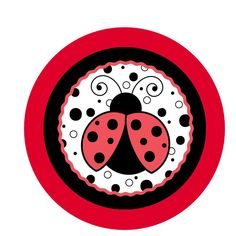 Table Decor Circle for Ladybug