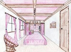 bedrooms on pinterest one point perspective perspective and built