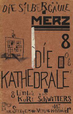 Kurt Schwitters - Die Silbergäule Bd. 41/42,  Merz- Die Kathedrale. 1920.