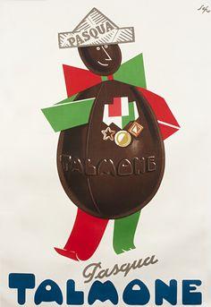 Severo Pozzati,                          Vintage Italian Posters ~ #illustrator #Italian #posters ~  Pasqua Talmone