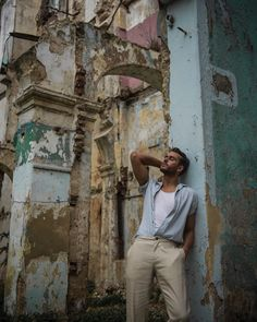 """""""The Havana Gangster"""" Boy Photography Poses, Fashion Photography, Black Pinstripe Suit, Male Poses, Guy Poses, Navy Espadrilles, Adam Gallagher, Visual Diary, Portrait Poses"""