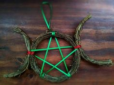 - This is made from grapevine wreath, and is a great accent to any tree or home decor. Yule Crafts, Wiccan Crafts, Pagan Christmas Tree, Yule Traditions, Yule Celebration, Pagan Yule, Yule Decorations, Celtic Druids, Witch Decor
