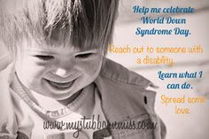 My Stubborn Little Miss: World Down Syndrome Day.