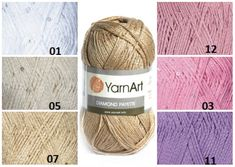 YarnArt DIAMONT PAYETTE cotton yarn knitting от KnittingAndYarns