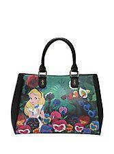 Loungefly Disney Alice In Wonderland Garden Satchel,