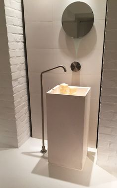INCAVO furniture (h 75cm) and glass top with integrated sinks. Rossi ...