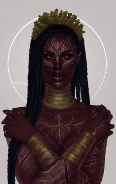Black Love Art, Black Girl Art, Black Girl Magic, Art Girl, Elfa, Arte Digital Fantasy, Fantasy Art, Female Character Design, Character Art
