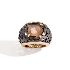 Arabesque Noir ring by Pomellato | titanium and rose gold