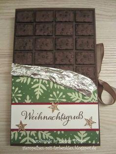 Stempeladvent: Anleitung für eine Schokoladenverpackung