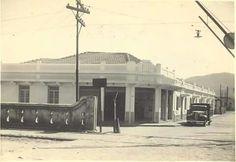 Travessia da linha férrea na rua dr. Deodato Wertheimer, centro,  Mogi das Cruzes - SP. Década de 30