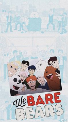 Monsta X And We Bare Bears / Escandalosos And Wallpaper lockscreen Fondo de pantalla HD iPhone K-pop Bear Wallpaper, Kawaii Wallpaper, Cute Wallpaper Backgrounds, Cute Wallpapers, Wallpaper Lockscreen, Colorful Wallpaper, We Are Bears, We Bare Bears Wallpapers, My Bebe