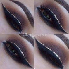 Glistering Smokey Eye Makeup For Night Party