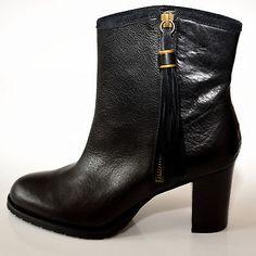 RALPH LAUREN Carah Leder Boots Stiefel 39 Schwarz ◄NEU – TOP► Stiefelette Schuhe