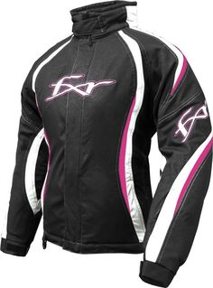 POLARIS Women/'s Black//Pink FXR® Winter Snowmobile Gloves 2863074/_