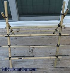 How to make a bamboo trellis.