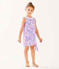 d8f4e99e017350 Girls Little Lilly Classic Shift Dress, Coastal Blue Maybe Gator, large Zoom