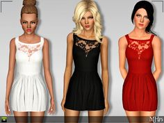 Summer Lace Dress by Margies Sims - Sims 3 Downloads CC Caboodle
