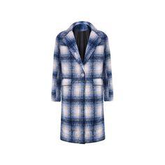 Blue Tartan Plaid Maxi Coat ($94) ❤ liked on Polyvore featuring outerwear, coats, blue, blue coat, tartan coat, plaid coat and maxi coat