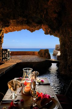 The Caves Resort's restaurant, Negril, Jamaica. Negril is a small (population but widely dispersed beach resort town located across parts of two Jamaican parishes, Westmoreland and Hanover. Places Around The World, Oh The Places You'll Go, Places To Travel, Places To Visit, Around The Worlds, Negril Jamaica, Dream Vacations, Vacation Spots, Jamaica Vacation