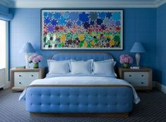 Sky Blue Bedroom | navies and deeper blues have their place too use the