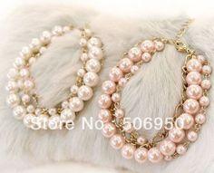 Atacado, jóias de estimação, pearl colares de cão( branco, azul, prink cor), banhado de cor como a foto