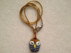 Owl Glass Necklace by hebaalayyan on Etsy, $7.00